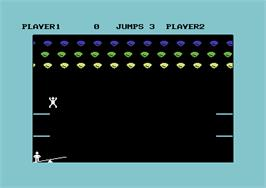 In game image of Clowns on the Commodore 64.