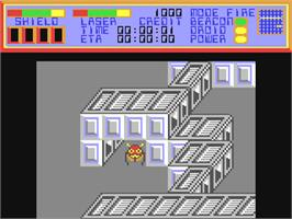 In game image of Colony on the Commodore 64.
