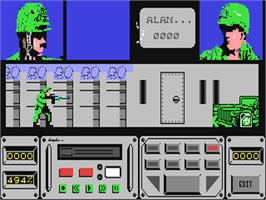 In game image of Combat Course on the Commodore 64.