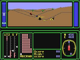 In game image of Combat Lynx on the Commodore 64.