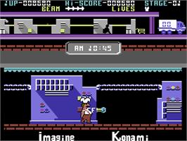 In game image of Comic Bakery on the Commodore 64.