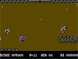 In game image of Commando on the Commodore 64.