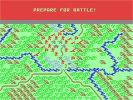 In game image of Conflict in Vietnam on the Commodore 64.