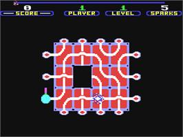 In game image of Confuzion on the Commodore 64.