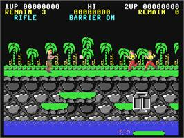 In game image of Contra on the Commodore 64.