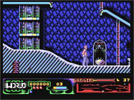 In game image of Cool World on the Commodore 64.