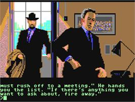 In game image of Corruption on the Commodore 64.