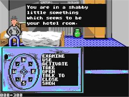 In game image of Crime Time on the Commodore 64.