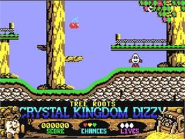 In game image of Crystal Kingdom Dizzy on the Commodore 64.