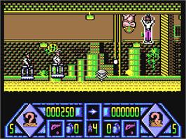 In game image of Dalek Attack on the Commodore 64.