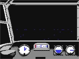 In game image of Dam Busters on the Commodore 64.