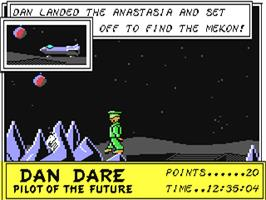 In game image of Dan Dare: Pilot of the Future on the Commodore 64.