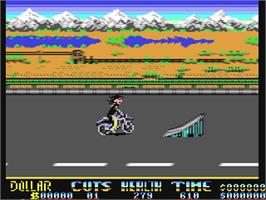 In game image of Danger Freak on the Commodore 64.