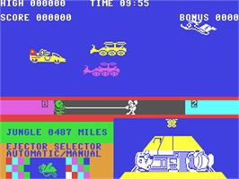 In game image of Danger Mouse in Double Trouble on the Commodore 64.