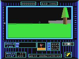 In game image of Dark Side on the Commodore 64.