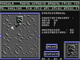 In game image of Dark Star on the Commodore 64.
