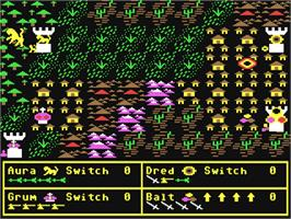 In game image of Darkhorn on the Commodore 64.
