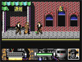 In game image of Darkman on the Commodore 64.