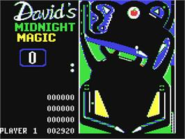 In game image of David's Midnight Magic on the Commodore 64.