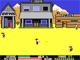 In game image of Dead or Alive on the Commodore 64.