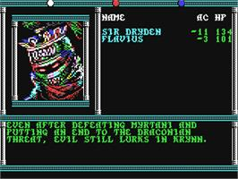 In game image of Death Knights of Krynn on the Commodore 64.