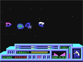 In game image of Death or Glory on the Commodore 64.