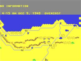 In game image of Decision in the Desert on the Commodore 64.