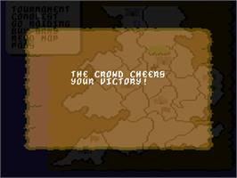 In game image of Defender of the Crown on the Commodore 64.