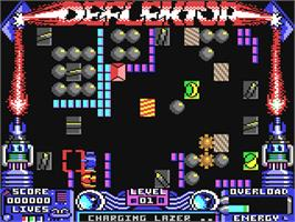 In game image of Deflektor on the Commodore 64.