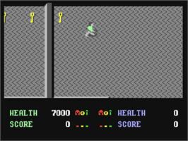 In game image of Demon Stalkers on the Commodore 64.