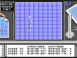 In game image of Destroyer on the Commodore 64.