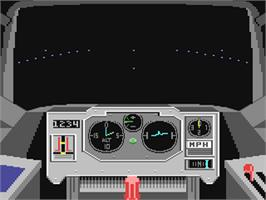 In game image of Dive Bomber on the Commodore 64.