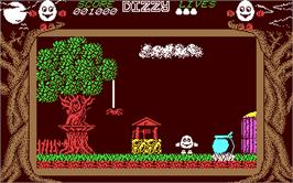 In game image of Dizzy Collection on the Commodore 64.