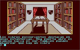 In game image of Don Quijote on the Commodore 64.