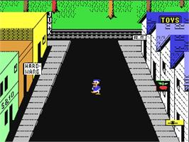 In game image of Donald Duck's Playground on the Commodore 64.