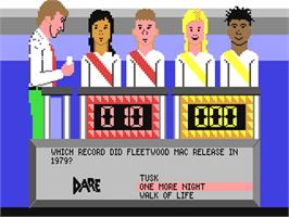 In game image of Double Dare on the Commodore 64.