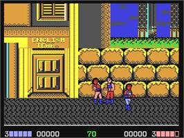 In game image of Double Dragon on the Commodore 64.