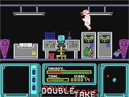 In game image of Double Take on the Commodore 64.