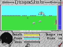 In game image of DragonStrike on the Commodore 64.