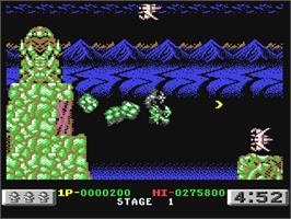 In game image of Dragon Breed on the Commodore 64.