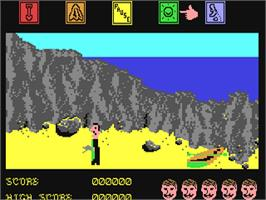 In game image of Dragonskulle on the Commodore 64.