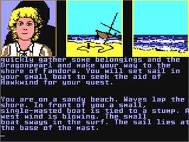 In game image of Dragonworld on the Commodore 64.