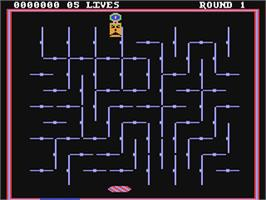 In game image of Drelbs on the Commodore 64.