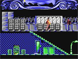 In game image of Dylan Dog: Gli Uccisori on the Commodore 64.