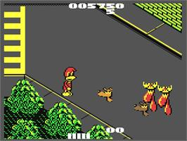 In game image of Dynamite Düx on the Commodore 64.