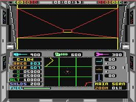In game image of Echelon on the Commodore 64.