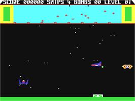 In game image of Eliminator on the Commodore 64.