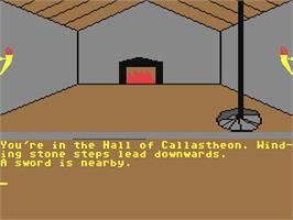 In game image of Empire of Karn on the Commodore 64.