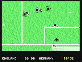 In game image of England Championship Special on the Commodore 64.
