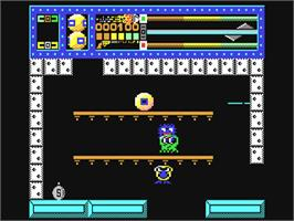 In game image of Equinox on the Commodore 64.